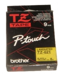 BROTHER TZ-621 TAPE 9MM (BK ON YELLOW)