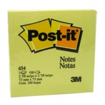 "3M 654 3"" X 3"" POST IT NOTE"