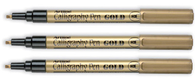 Artline Calligraphy Pen Gold Artline 993 Calligraphy Pen